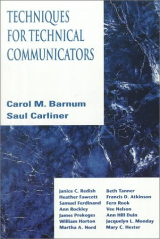 9780023060953: Techniques for Technical Communicators
