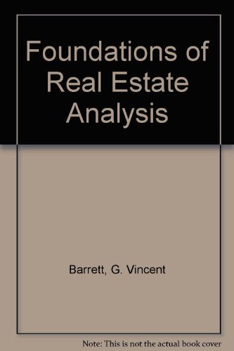 9780023061400: Foundations of Real Estate Analysis