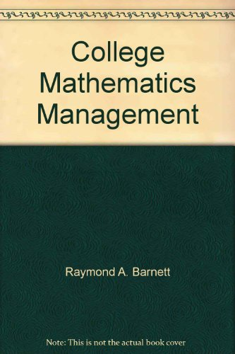 9780023062209: College Mathematics Management