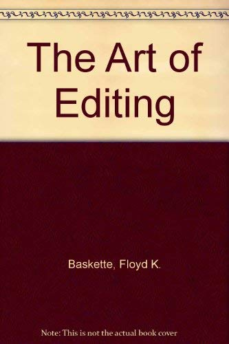 9780023062957: The Art of Editing