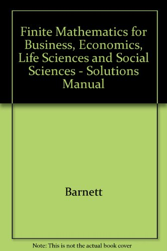 9780023063671: Finite Mathematics Business EC
