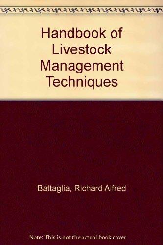 9780023064418: Handbook of Livestock Management Techniques