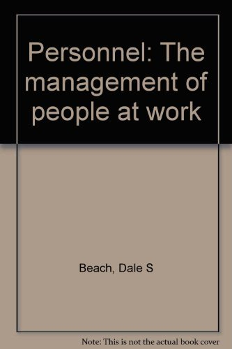 9780023069802: Personnel. The Management Of People At Work.