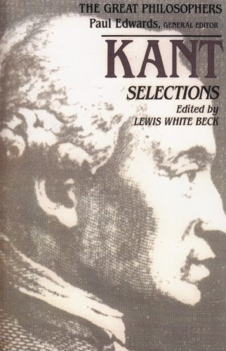 9780023078217: Kant Selections (The Great Philosophers)