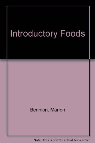 Introductory Foods: Marion Bennion