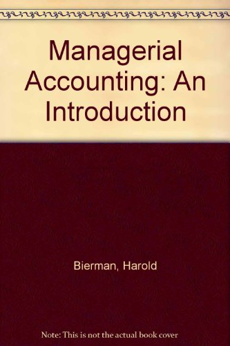 9780023095801: Managerial Accounting: An Introduction