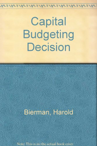 9780023096907: Capital Budgeting Decision