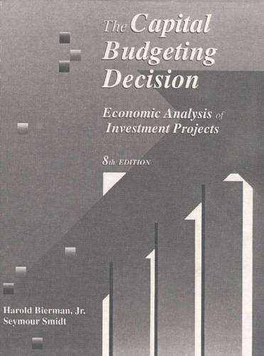 9780023099434: The Capital Budgeting Decision: Economic Analysis of Investment Projects (8th Edition)