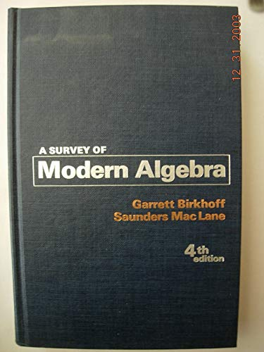 9780023100703: A Survey of Modern Algebra