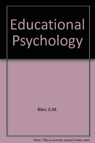 9780023105203: Educational Psychology