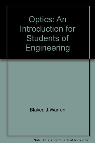 9780023106408: Optics: An Introduction for Students of Engineering