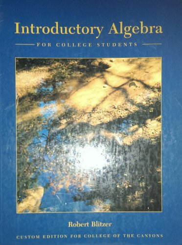9780023108532: Introductory Algebra for College Students (Custom Edition for College of the Canyons Students)