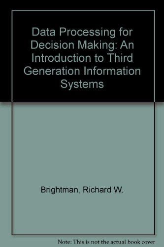 9780023149702: Data Processing for Decision Making: An Introduction to Third Generation Information Systems