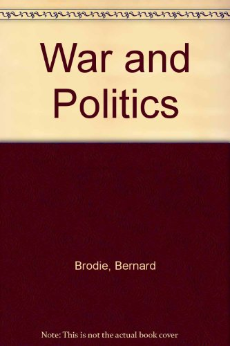 9780023150500: War and Politics