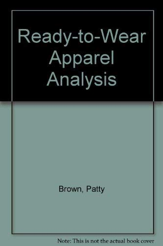 9780023156113: Ready-To-Wear Apparel Analysis
