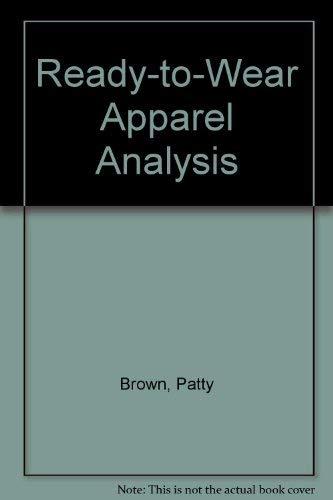 9780023156113: Ready-To-Wear Apparel Analysis