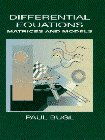 9780023165405: Differential Equations: Matrices and Models