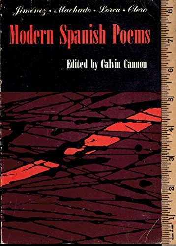 9780023188701: Modern Spanish Poems: Selections from the Poetry of Juan Ramon Jimenez, Antonio Machado, Federico Garcia Lorca, Blas de Otero (Spanish and English Edition)
