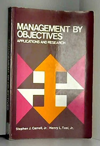 9780023195303: Management by Objectives: Applications and Research