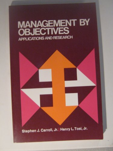 9780023195402: Management by Objectives: Applications and Research