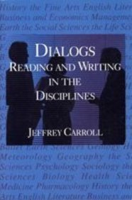 9780023195907: Dialogs: Reading and Writing in the Disciplines