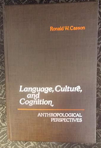 9780023200502: Language, Culture and Cognition
