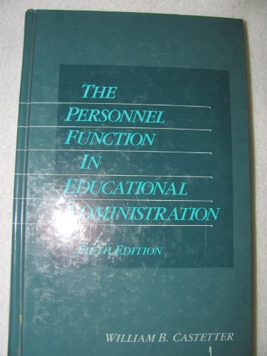 9780023201752: The Personnel Function in Educational Administration
