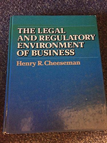 9780023222603: Legal Regulatory Environment B