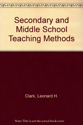 9780023226502: Secondary and Middle School Teaching Methods