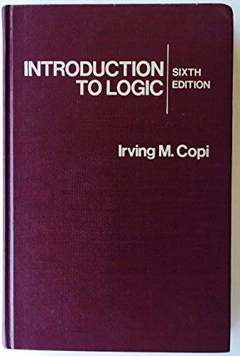 Introduction To Logic: Copi, Irving M.