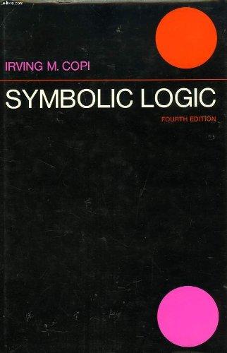 9780023249907: Symbolic Logic