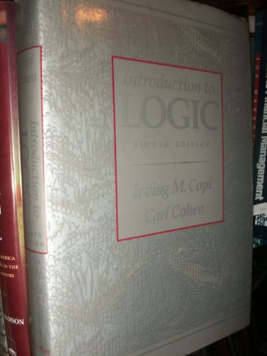 9780023250354: Introduction to Logic