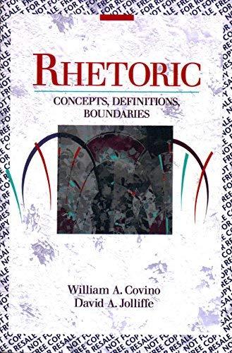 9780023253218: Rhetoric: Concepts, Definitions, Boundaries