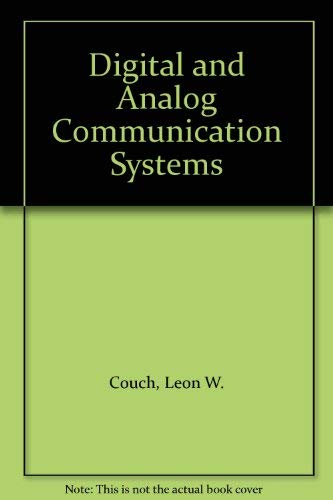 9780023253805: Digital and Analog Communication Systems