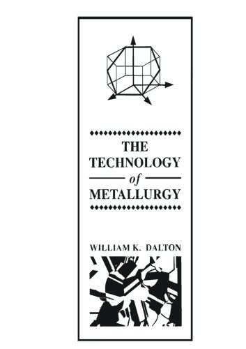 9780023269004: The Technology of Metallurgy (Merrill's International Series in Engineering Technology)
