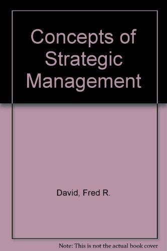 9780023272721: Concepts of Strategic Management