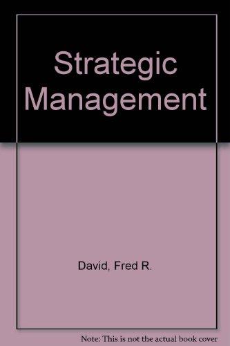 Strategic management: Fred R David