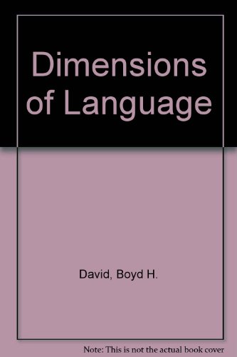 9780023278853: Dimensions of Language