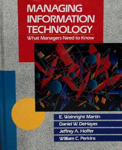 9780023282317: Managing Information Technology: What Managers Need to Know