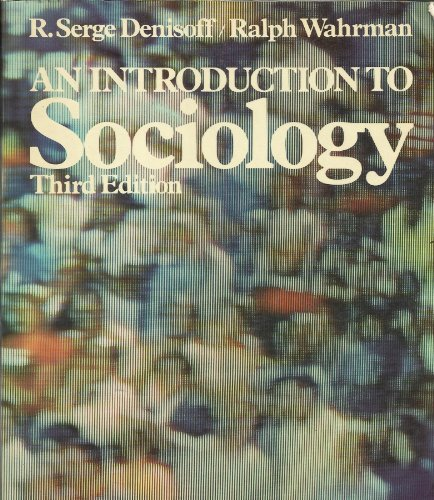 9780023284304: An Introduction to Sociology