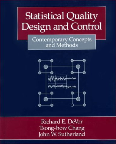 9780023291807: Statistical Quality Design and Control: Contemporary Concepts and Methods