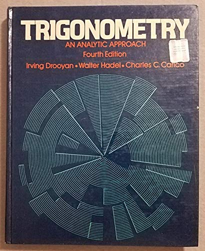 9780023303500: Trigonometry: An analytic approach