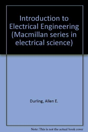 9780023309809: Introduction to Electrical Engineering