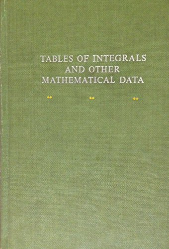 9780023311703: Tables of Integrals and Other Mathematical Data