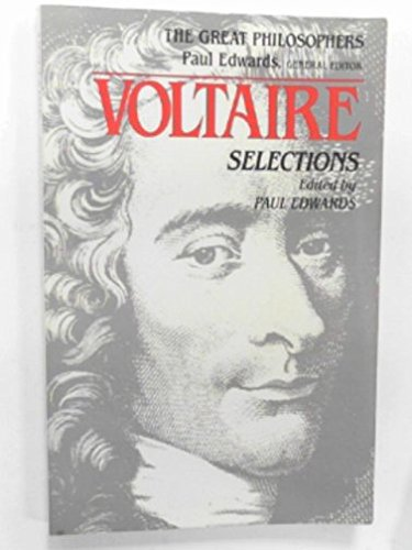 9780023316104: Voltaire: Selections (Great Philosophers)