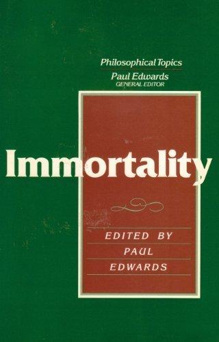 9780023316203: Immortality (Philosophical Topics)
