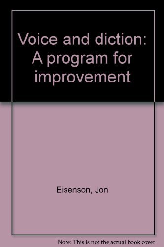 9780023319600: Voice and diction: A program for improvement