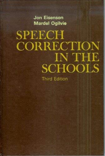 9780023320903: Speech Correction in Schools