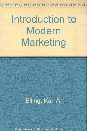 9780023324505: Introduction to Modern Marketing