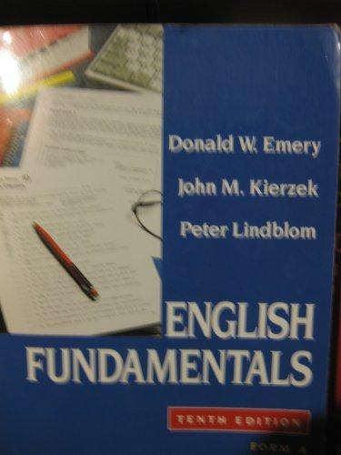 9780023329012: English Fundamentals, Form A